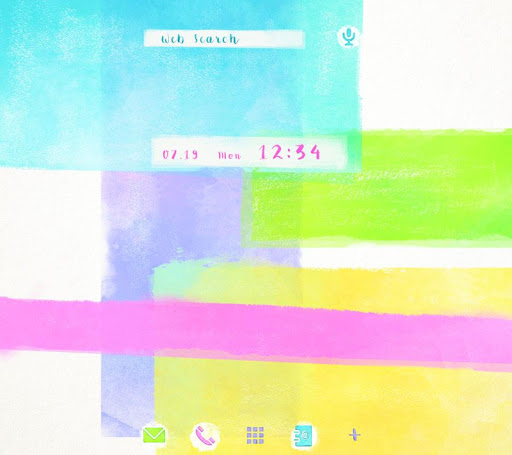 壁纸·图标 水彩色块