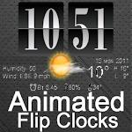Live Wallpaper Flip Clock Icon