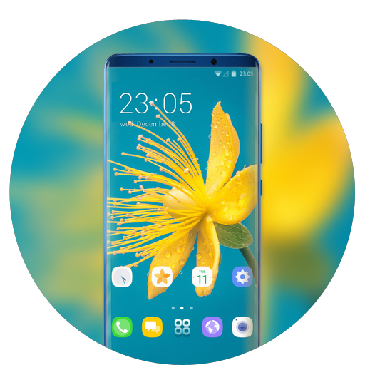 Theme for summer yellow flower wallpaper icon