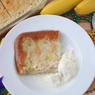 Bananas Foster Protein Pancakes.