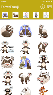FerretEmoji - Ferret Emojis, Stickers and Keyboard - náhled