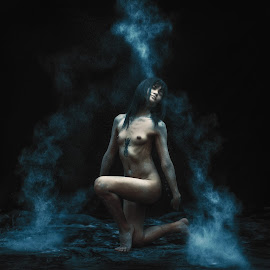 Release by Supawin Thanasubharerk - Nudes & Boudoir Artistic Nude ( free, girl, nude, freedom, blue, naked, nudeart, release, nudes, mist )