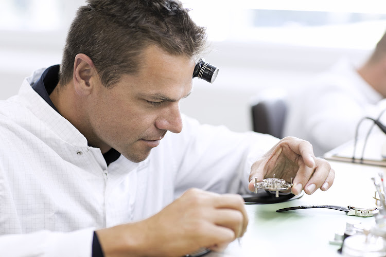 Ryk Neethling tries his hand at watchmaking