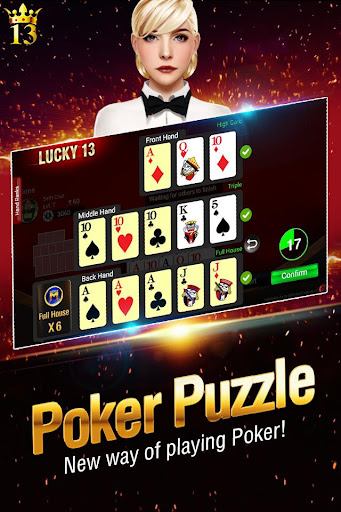 Lucky 13: 13 Card Poker Puzzle  gameplay | by HackJr.Pw 7
