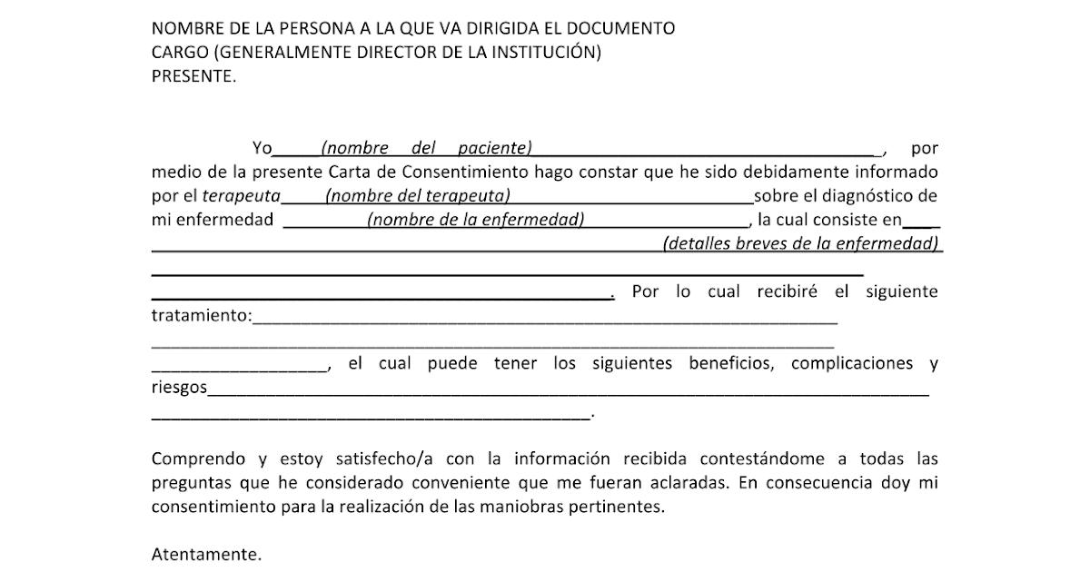 CARTA DE CONSENTIMIENTO INFORMADO DE TERAPIA FÍSICA - Google Docs