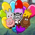 Animal Sounds Laughs And Balloon Pop icon