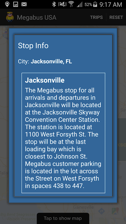Megabus USA- screenshot