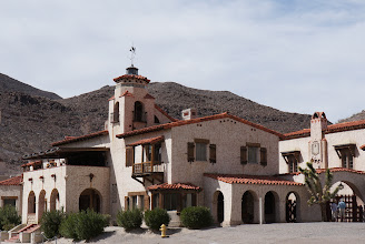 """Photo: Construction began on Scotty's Castle in 1922, and cost between $1.5 and $2.5 million. Prospector, performer, and con man Walter Scott born in Cynthiana, KY, also known as """"Death Valley Scotty"""", convinced Chicago millionaire Albert Mussey Johnson to invest in his gold mine in the Death Valley area."""