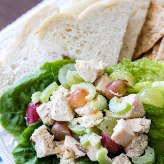 Light and Healthy Chicken Salad.