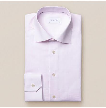 ETON Jaipur twill microruta rosa contemporary fit