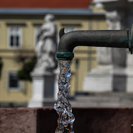 a tap in the old town by Alen Zita - City,  Street & Park  Fountains ( tap, historic, osijek, tvrđa, water )