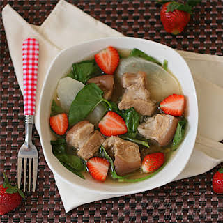 Pork Sinigang with Strawberries.