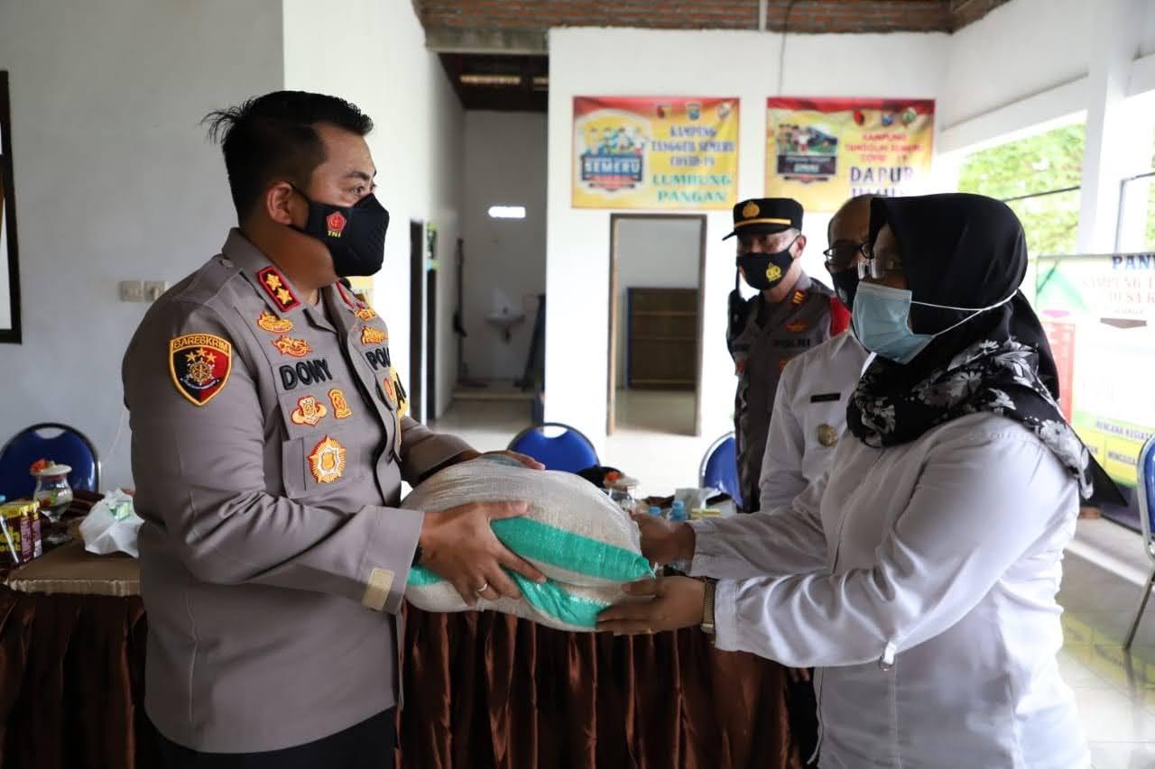 Kapolres Mojokerto Tinjau Kampung Tangguh Semeru, Yang Kembali Aktif
