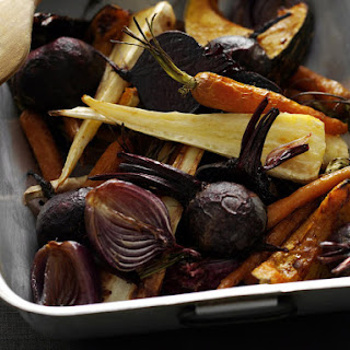 Roasted Vegetables with Harissa Yogurt