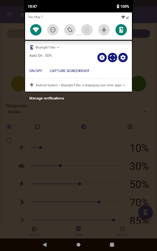 Bluelight Filter for Eye Care - Auto screen filter screenshot 12