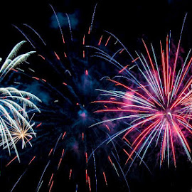 by Mark Hopkins - Abstract Fire & Fireworks