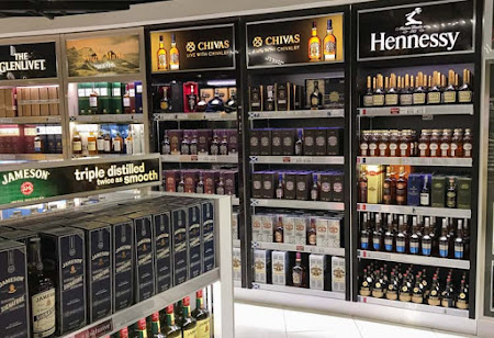 Alcohol, taxed heavily in the U.S., is a popular item at duty-free shops, but you're limited in how many bottles you can bring back.