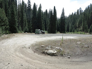 Photo: Large parking area at the trail head