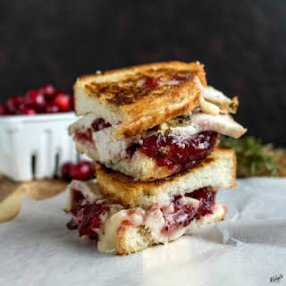 Roasted Turkey Cranberry Grilled Cheese.