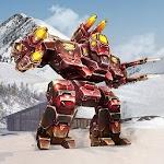 Futuristic Mech Warrior Robot Icon