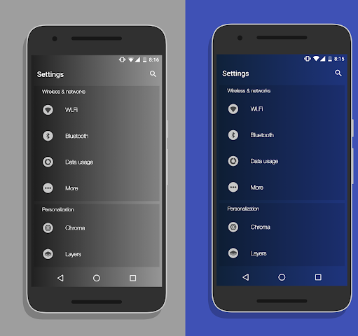 android Gradient - Layers/RRO Theme Screenshot 2