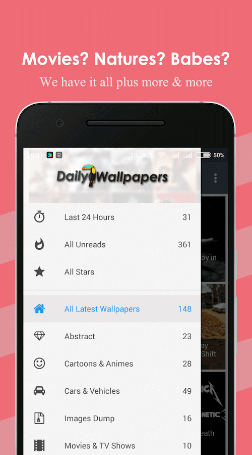 DailyWallpapers- screenshot