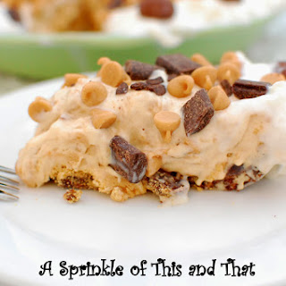 Frozen Peanut Butter Pie with Brownie Brittle Crust