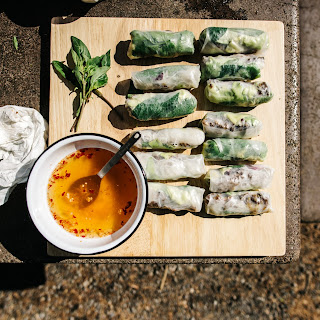 Lemongrass Beef Salad Rolls