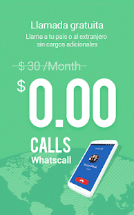 WhatsCall - llamadas GRATIS Screenshot