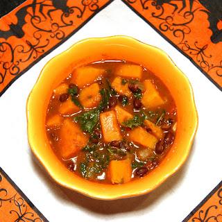 Butternut Squash & Black Bean Stew with Kale