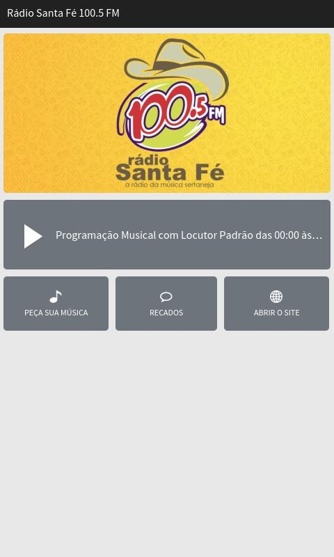 Rádio Santa Fé 100.5 FM- screenshot