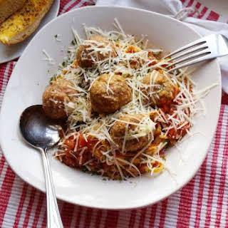 Mozzarella-Stuffed Turkey Meatballs.
