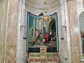 Photo: The Chapel of Condemnation; Pilate washes his hands of Jesus.