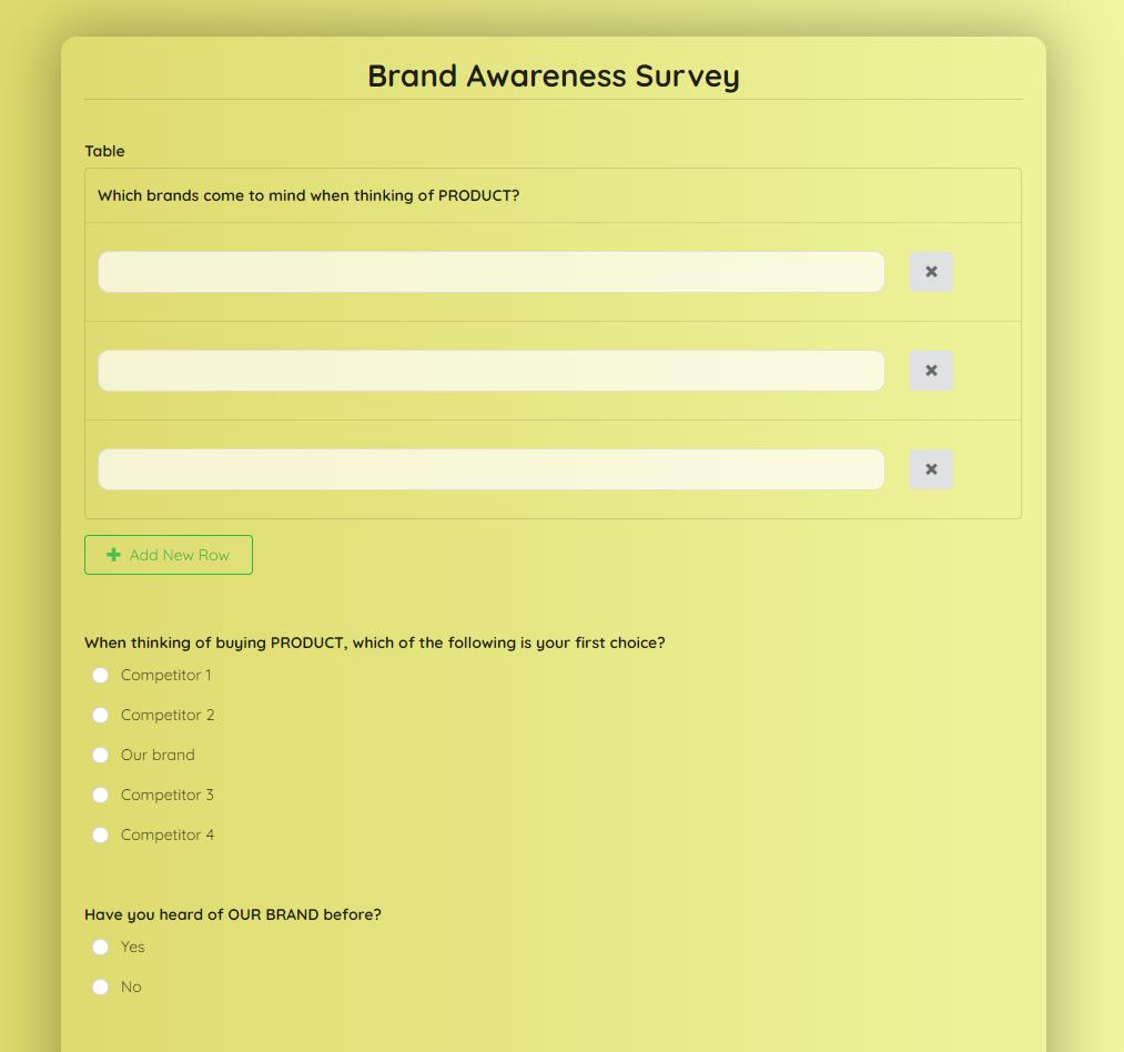 brand-awareness-survey-form