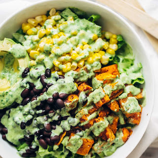 Spicy Southwestern Salad with Avocado Dressing
