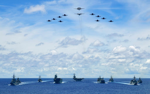 Japan, Australia's 5 Warships just Joined the USA' 2 Aircraft Carriers in Patrolling the Philippine Seas