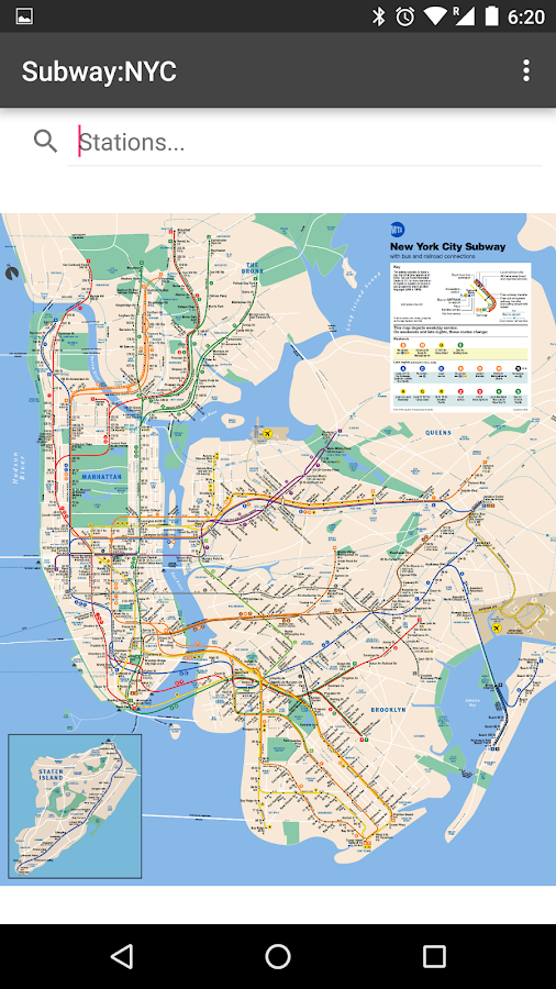 Subway Map New York City