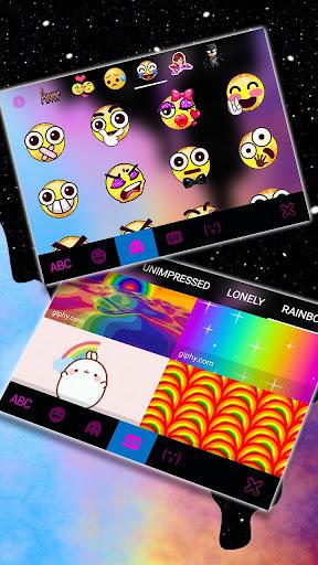 Galaxy Color Drip Keyboard Theme screenshots 4