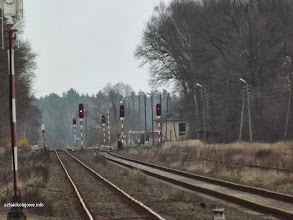 Photo: Sygnalzatory w okolicy dworca widziane z zachodniej głowicy stacji