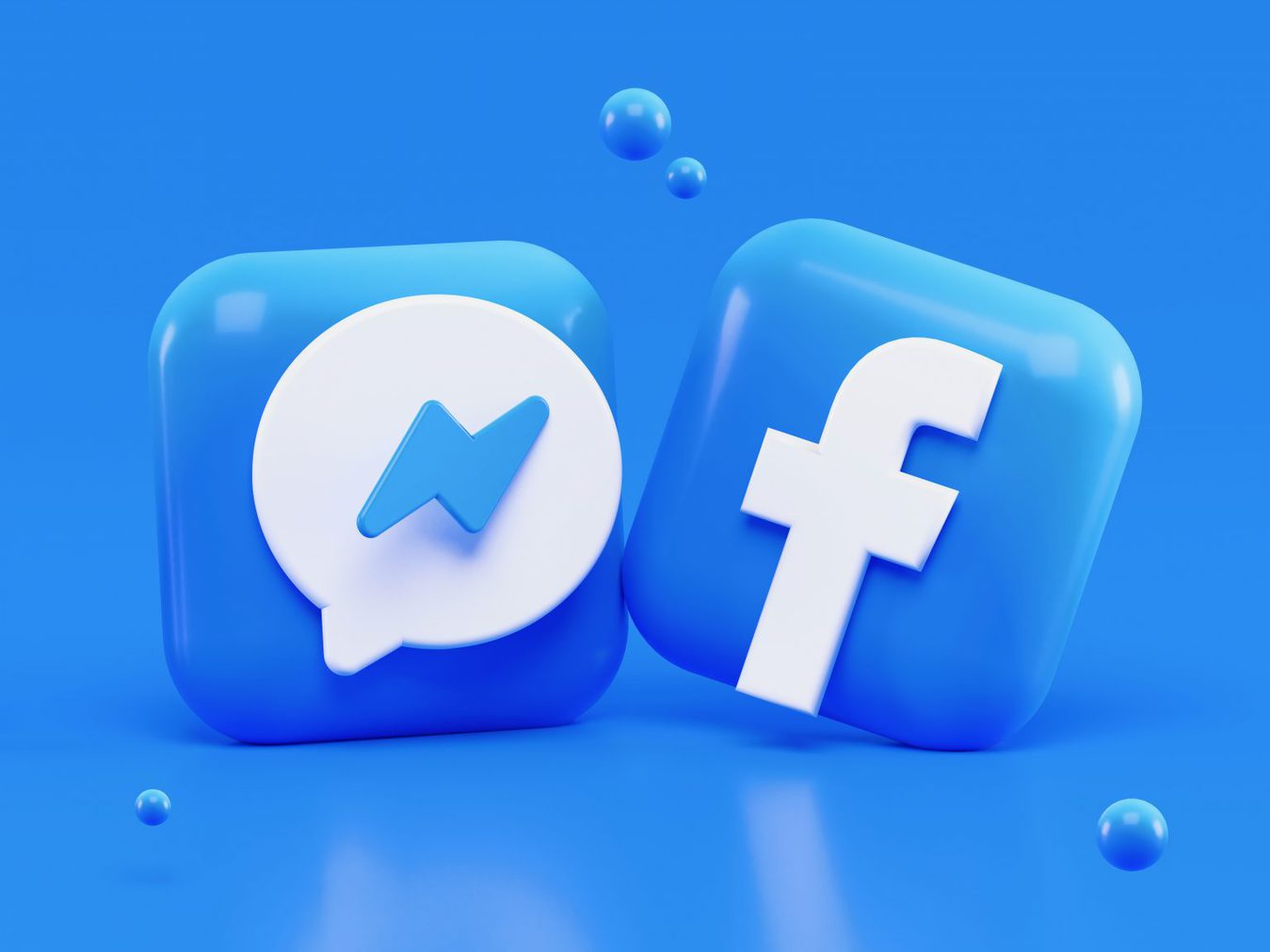 3D facebook icons