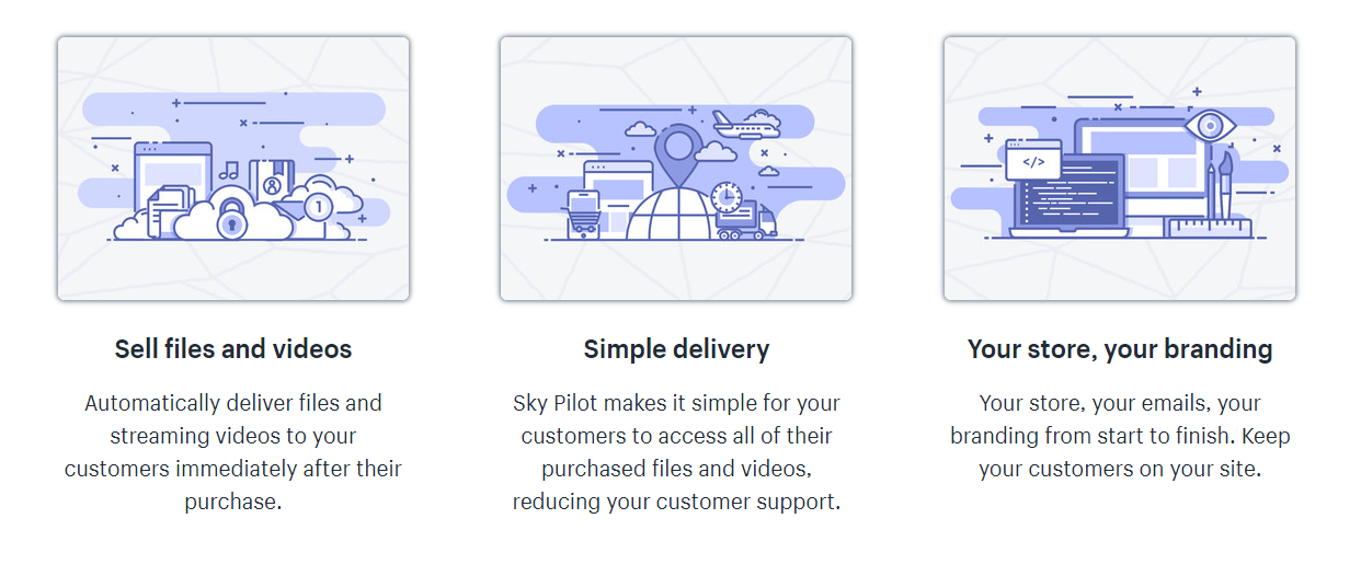 SkyPilot's landing page