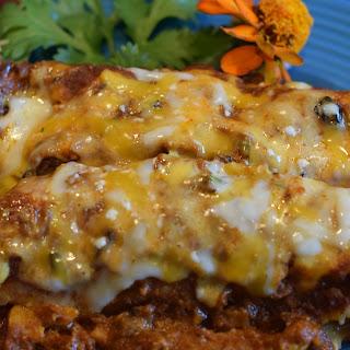 Shredded Chicken Enchiladas with Red Sauce Recipe