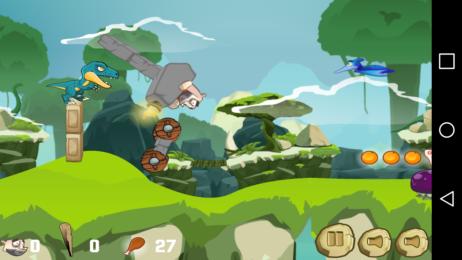 Stone Age Rider- screenshot