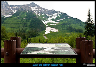 Photo: Glacier National Park: zona de riesgo de avalanchas.