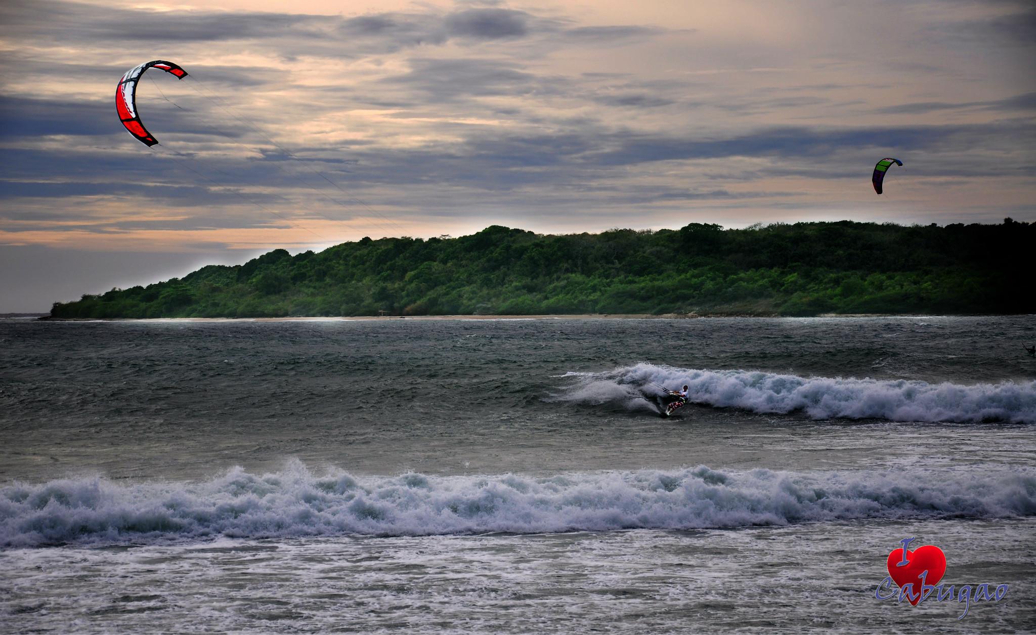 Photo: Kite Boarding at Barangay Sabang, Cabugao, Ilocos Sur AB Photography