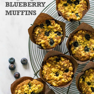 Vegan Blueberry Muffins with Streusel Topping Recipe