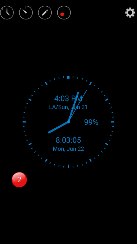 ClockView- screenshot