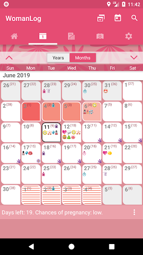 WomanLog Calendar  screenshot 2