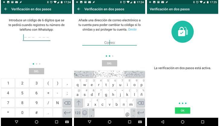activar la verificación en dos pasos whatsapp