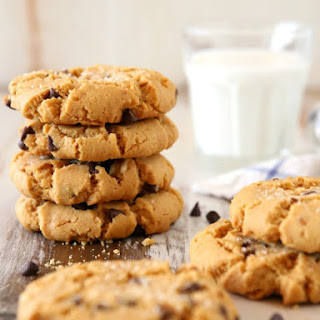Flourless Peanut Butter Chocolate Chip Cookies.